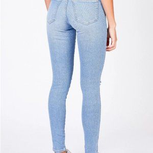 Dr Denim Lexy High-waisted Faded Summer Jeans